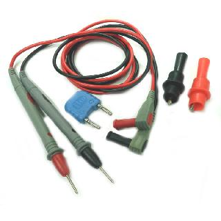 TEST LEAD MULTI METER 4FT WITH PUSH-ON ALLIGATOR CLIPS RED/BLK