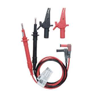 TEST LEAD SET FUSED W/ALLIGATOR CLIPS FUSES FOR CAT IV RED/BLK