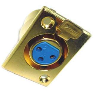 XLR 3JK CHASIS MOUNT GOLD SOLDER LOCK METAL