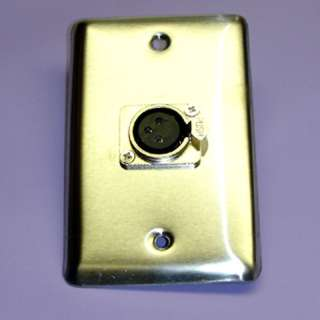 WALL PLATE XLR 3JK LOCK METAL 