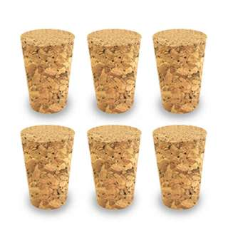 CORK STOPPER TAPERED 20X15X30MM TALL #7 WIDTH