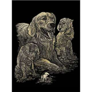 GOLD ENGRAVING GOLDEN RETRIEVER 