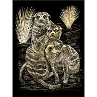 GOLD ENGRAVING MEER CATS 