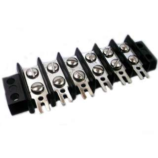 TERM BLOCK 6P FLUSH 2ROW #8-32 22-10AWG 30A/250V 11.8MM FORK