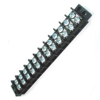 TERM BLOCK 12P FLUSH 2ROW #6-32 22-14AWG 30A/300V 9.5MM PITCH