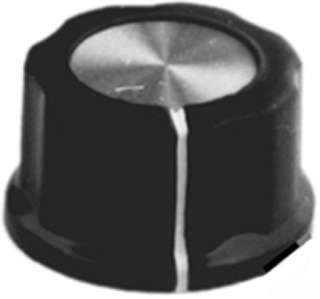 KNOB 1/4IN PLAST 27MM SCREW BLK 