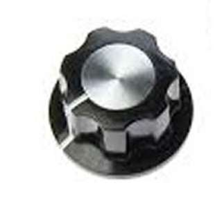 KNOB 1/4IN PLAST 20MM SCREW BLK 
