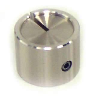 KNOB 1/4IN MET 19MM SCREW SILVER 
