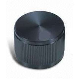 KNOB 1/4IN MET 12MM SNAP BLACK 