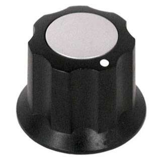 KNOB 1/8IN PLAST 16MM SCREW BLK 