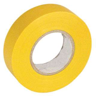 TAPE INSULATING PVC YELLOW 3/4IN 66FT
