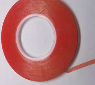 TAPE DOUBLE SIDED 0.2X6.3MM 50MT CLEAR HEAVY DUTY