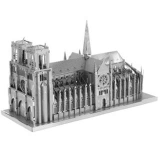 NOTRE DAME DE PARIS TWO SHEET 3D METAL MODEL KIT