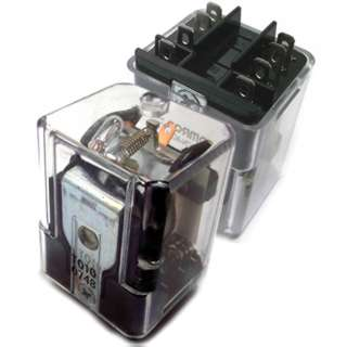 RELAY DC 12V 2P2T 10A 8P PLUGIN 10A/250VAC/28VDC WITH FLANGE