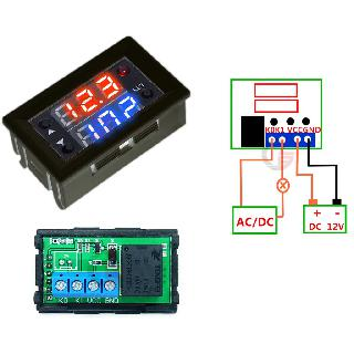 RELAY TIME DELAY 0-999HRS 1P1T DIGITAL DUAL DISPLAY PANEL MOUNT