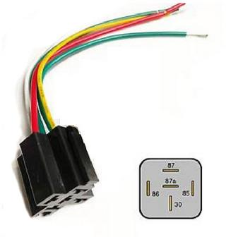 RELAY SOCKET AUTO 5P 80A W/12AWG WIRES
