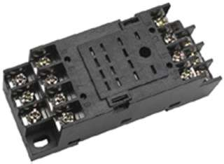 RELAY SOCKET 14P SQR SCREW CHMT/ DIN RAIL