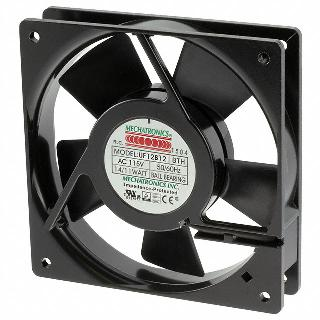 FAN AC 115V 4.7X1IN BB .12A W/TAB 75CFM 2900RPM 42DB 14/11W