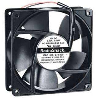 FAN DC 12V 4.7X1.5IN 0.32A 3.84W W/2 WIRE BRUSHLESS CFM:85 RPM:3K