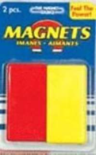 MAGNET BAR 27X12X52MM RECTANGULA SET OF 2 RED/YEL