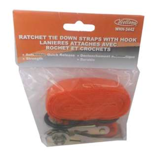 STRAP WITH HOOK RATCHET TIE DOWN 3FT