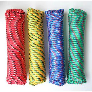 ROPE POLY TWISTED 20FT ASSORTED COLORS ALL PURPOSE 3/8IN