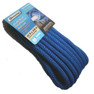 ROPE POLY DOUBLE BRAID 25FTX3/8IN FOR BOAT