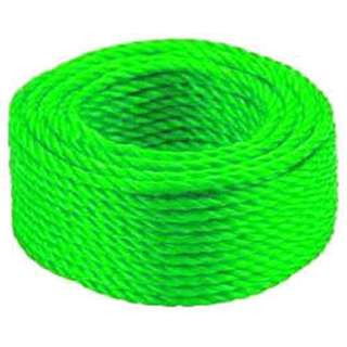 ROPE POLY TWISTED 3.5MMX45FT GRN 