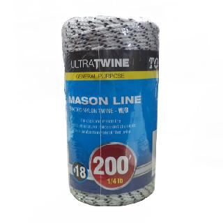 ROPE BRAIDED NYLON TWINE W/B 200FT FOR CHALK AND MASON LINE