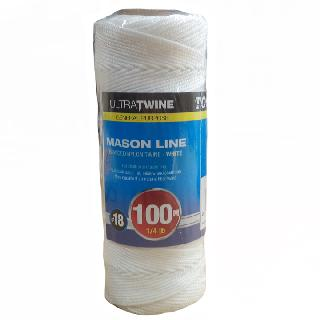 ROPE BRAIDED NYLON TWINE WHITE 328FT FOR CHALK AND MASON LINE