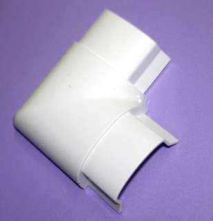 RACEWAY FLAT ELBOW 1.5X0.5IN WHITE OUTDOOR SMOOTH MOLD