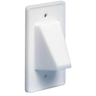 WALL PLATE FOR BULK CABLE WHITE REVERSIBLE