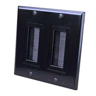 WALL PLATE FOR BULK CABLE DECORA STYLE DUAL BLACK