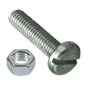 SCREW STAINLESS STEEL 1/4IN-20 X 1-1/2IN WITH NUTS SET OF 6PCS