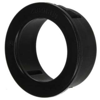SNAP IN HOLE BUSHING 15.5MM OD 12.8MM ID PLAS BLACK