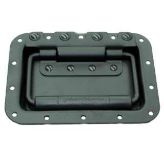 HANDLE WITH FACEPLATE 7X5 INCH METAL BLACK