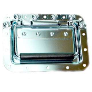 HANDLE WITH FACEPLATE 7X5 INCH METAL CHROME