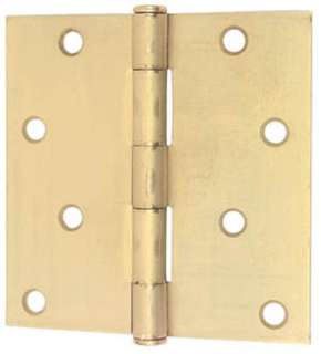 HINGE 3-1/2 X 3-1/2 INCH STEEL SQUARE CORNERS