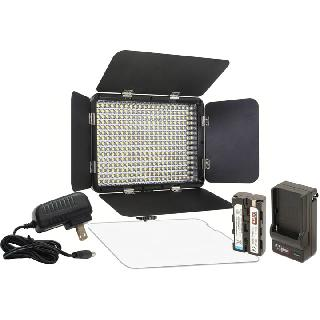 STUDIO LIGHT 330LED KIT W/CHARGER RECHARGEABLE BATTERIES
