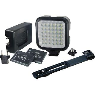 STUDIO LIGHT 36LED KIT W/2LI-ION BATTERIES CHARGER AND BRACKET