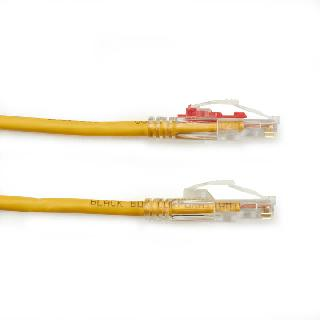 PATCH CORD CAT6 YELLOW 7FT LOCKABLE CABLE