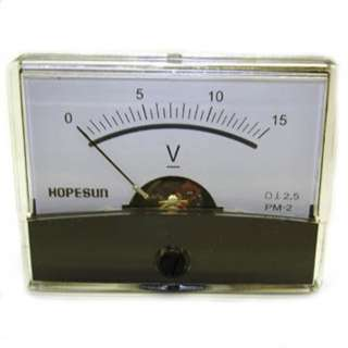 PANEL METER DC 0-15V 2.4X1.9IN 
