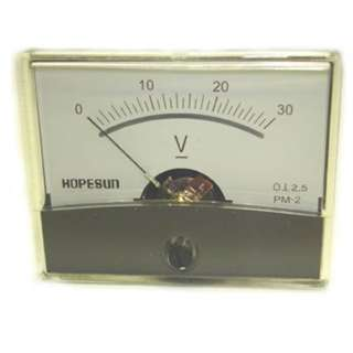 PANEL METER DC 0-30V 2.4X1.9IN 