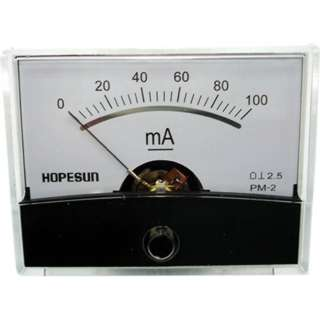 PANEL METER DC 0-100MA 2.4X1.9IN 
