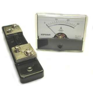 PANEL METER DC 0-30AMP 2.4X1.9IN WITH SHUNT