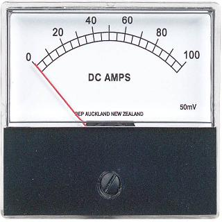 PANEL METER DC 0-50AMP 2.8X2.4IN 50MV WITHOUT SHUNT