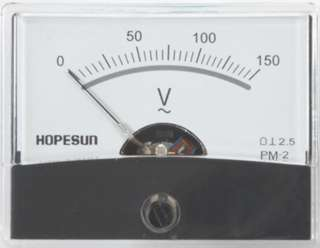 PANEL METER AC 0-150V 2.4X1.9IN 