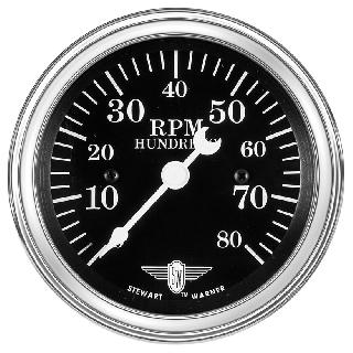 TACHOMETER 3 3/8IN DIA 0-8000RPM 