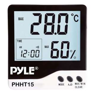 THERMOMETER DIGITAL -50 TO 70C HUMIDITY AND CLOCK WITH ALARM