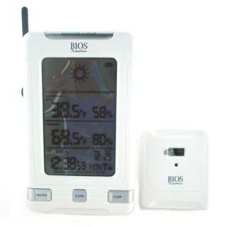 THERMOMETER DIGITAL WIRELESS INDOOR/OUTDOR W/FORECAST & CLOCK